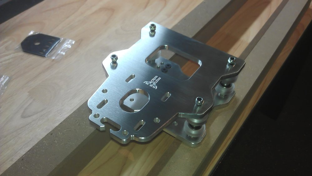 Photo of CNC partial assembly