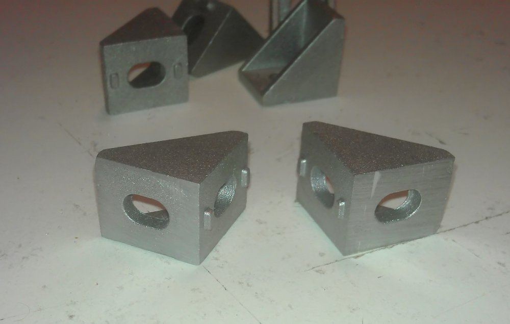 Photo of 90-degree corner brackets