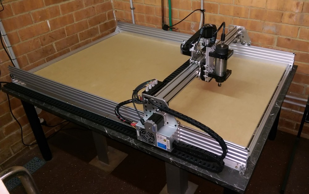 Photo of CNC with new wiring